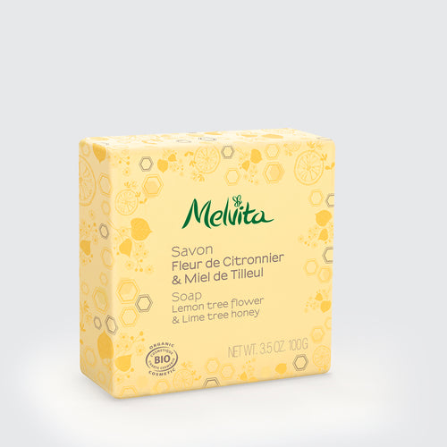 Melvita Singapore Organic Clean Beauty Lemon Lime Tree Soap