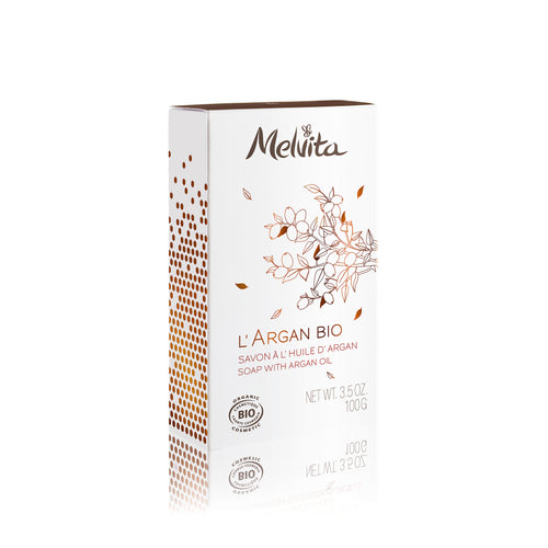 Melvita Body Care Clean Beauty L'Argan Bio Organic Soap Wtih Argan Oil