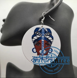 Zeta woman tribal earrings