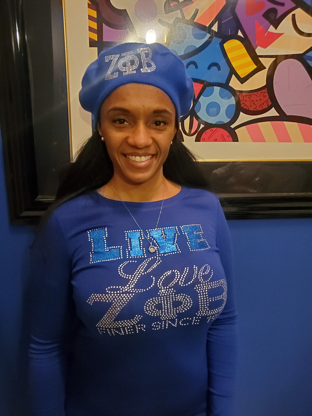 Live, love, Zeta bling shirt