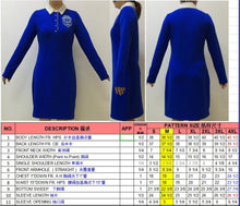 Load image into Gallery viewer, Zeta shield dress with removable pearl collar