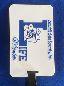 Life Member luggage tag