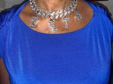 Load image into Gallery viewer, Baguette ZETA choker necklace