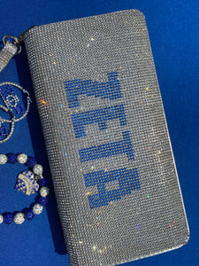 Zeta clutch, bling earrings & bracelet bundle