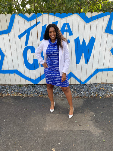 Nationally Approved Zeta word art dress