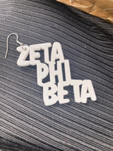Load image into Gallery viewer, Zeta Phi Beta carved earrings