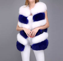 Load image into Gallery viewer, Pre-order Contrast royal blue & white vest