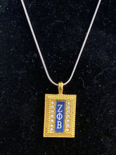 Load image into Gallery viewer, Gold ZPB necklace charm