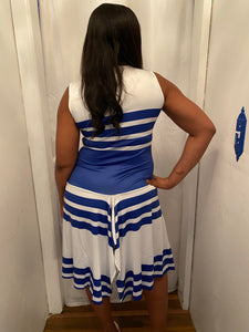 Blue & white stripe dress