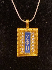 Gold ZPB necklace charm