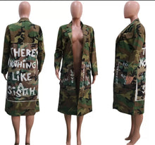 Load image into Gallery viewer, Camouflage print long jacket