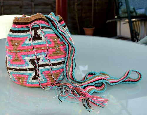 Small embellished multi-colour Wayuu shoulder bag - Kate Diaz