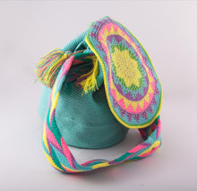 Load image into Gallery viewer, Big ocean embellished Wayuu flap bag - Kate Diaz