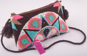 Embellished Wayuu clutch - Kate Diaz