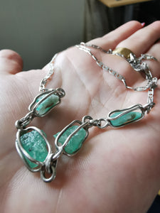 Raw emeralds chain - Kate Diaz