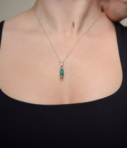 emerald faceted marquis - Kate Diaz