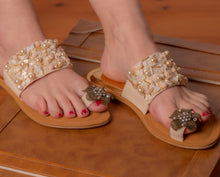 Load image into Gallery viewer, Handcrafted flat sandals - Kate Diaz