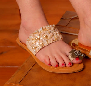 Handcrafted flat sandals - Kate Diaz