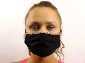 Adara hand beaded face mask