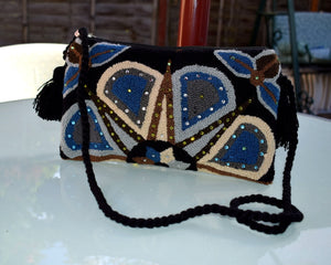 Embellished Wayuu clutch