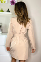 Load image into Gallery viewer, Candice Button Detail Blazer Beige Dress