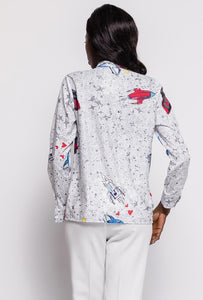 Blouse with robot print