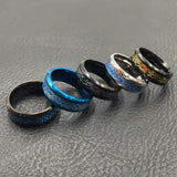 Ring 8mm  Wedding Bands Couple Anniversary 11 colors Blue Black Silvering Irish Dragon Titanium Carbide
