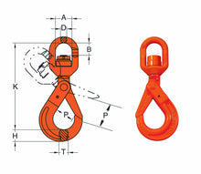 Load image into Gallery viewer, DA Swivel Self Locking Hook - Towne Lifting & Testing