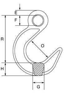 Grade 10 Eye Type Foundry Hook - G10EFH - Towne Lifting & Testing