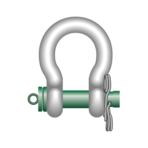 Green Pin ROV Release Polar Shackles With Spring Pins - GPROV5363 - Towne Lifting & Testing