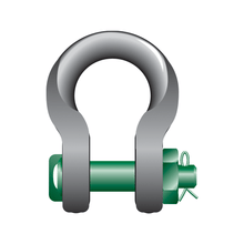 Load image into Gallery viewer, Green Pin Sling Shackles Bow Type with Safety Nut and Bolt Pin - GPSL - Towne Lifting & Testing