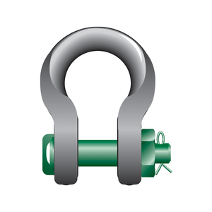 Green Pin Sling Shackles Bow Type with Safety Nut and Bolt Pin - GPSL - Towne Lifting & Testing