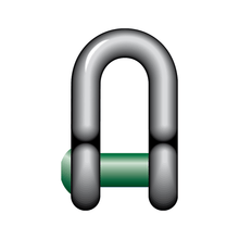 Load image into Gallery viewer, Green Pin Sunken Hole Dee Shackle - GPSQSUD - Towne Lifting & Testing