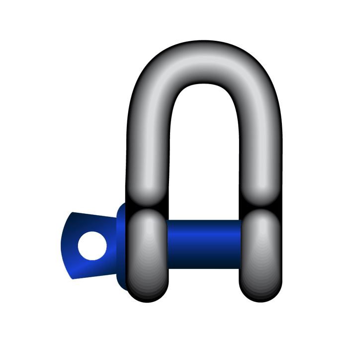 GT Blue Pin Standard Dee Shackles with Screw Pin - BPSCD - Towne Lifting & Testing