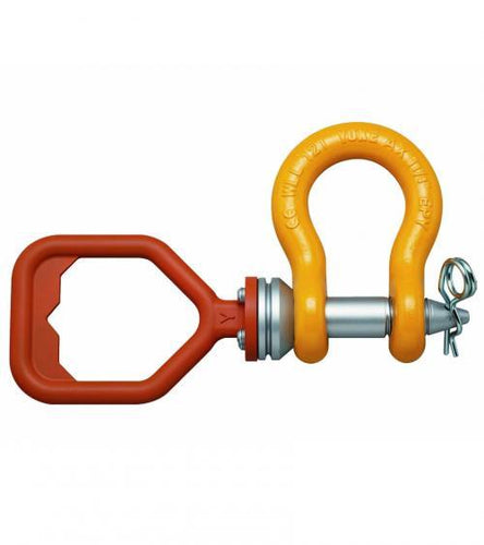 ROV Anchor Shackle with D-handle and safety pin - Towne Lifting & Testing
