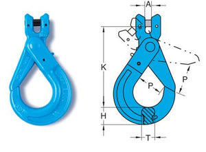 Yoke Grade 10 Clevis Self Locking Hook EN1677 - Towne Lifting & Testing