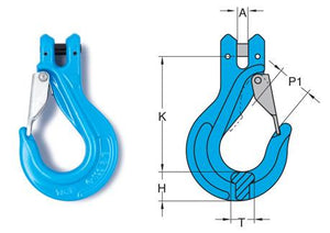 Yoke Grade 10 Clevis Sling Hook with Latch EN1677-1+2 - Towne Lifting & Testing