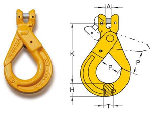 Yoke Grade 8 Clevis Self Locking Hook BS EN 1677-1+2 - Towne Lifting & Testing