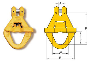 Yoke Grade 8 Clevis Skip Hook with Spring Gate BS EN 1677-1+2 - Towne Lifting & Testing