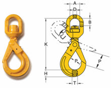 Load image into Gallery viewer, Yoke Grade 8 Swivel Self Locking Hook with Ball Bearing - Towne Lifting & Testing