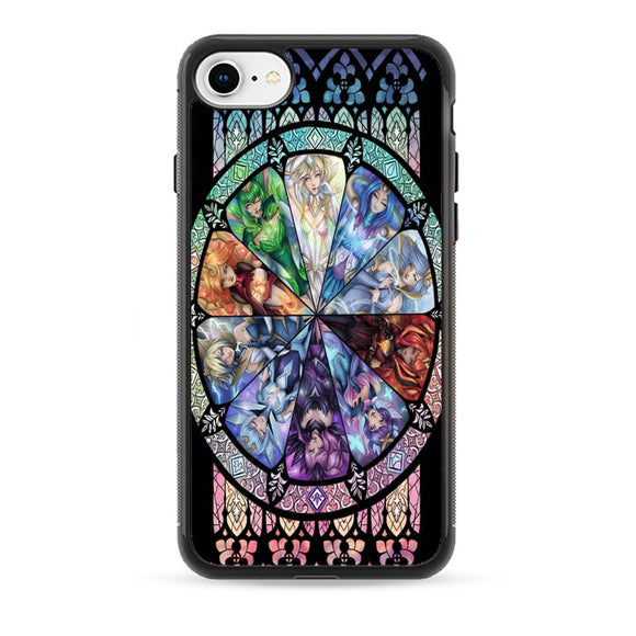 10 Elementalist Lux Lol Stained Glasses Art iPhone 8 Case | Babycasee