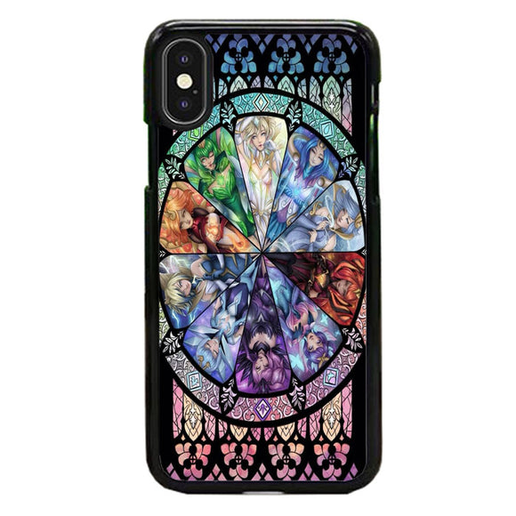 10 Elementalist Lux Lol Stained Glasses Art iPhone XS Case | Babycasee