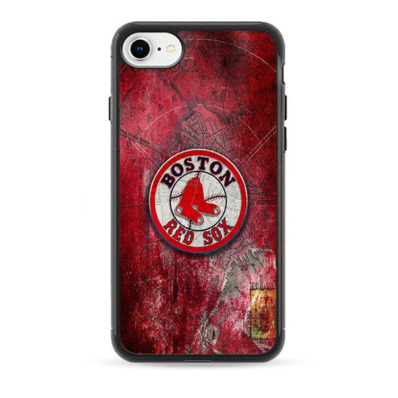 Boston Red Sox Red Wallpaper iPhone 8 Case | Babycasee