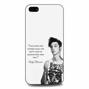 Andy Biersack Quotes iPhone 5|5S|SE Case | Babycasee