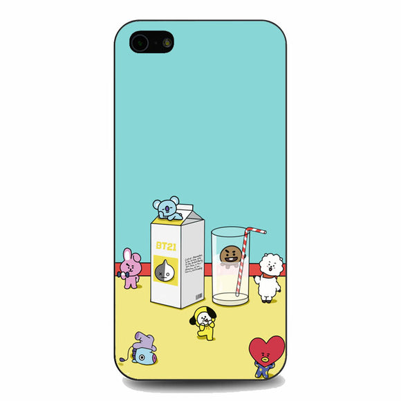 Bt21 Drink Milk iPhone 5|5S|SE Case | Babycasee