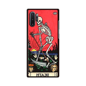 Tarot Retro Occult Goth Card Death Skull Skeleton Samsung Galaxy Note 10 Plus Case | Babycasee