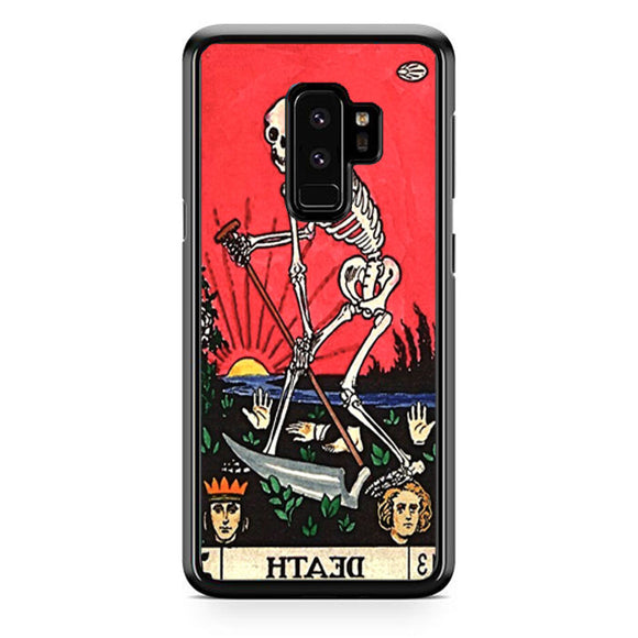 Tarot Retro Occult Goth Card Death Skull Skeleton Samsung Galaxy S9 Plus| Babycasee