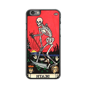 Tarot Retro Occult Goth Card Death Skull Skeleton iPhone 6|6S Case | Babycasee