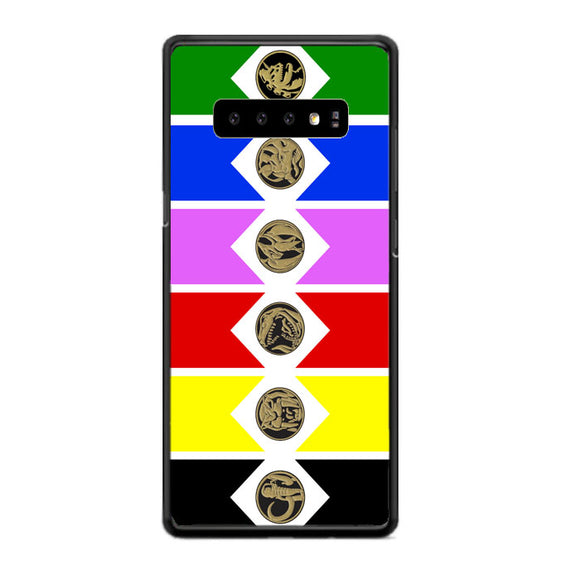 Mighty Morphin Power Rangers Colored Wallpaper Samsung Galaxy S10 Case | Babycasee