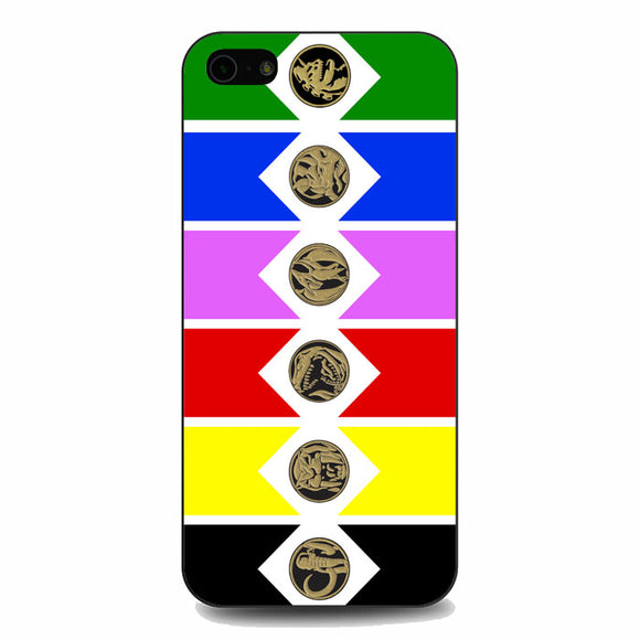 Mighty Morphin Power Rangers Colored Wallpaper iPhone 5|5S|SE Case | Babycasee